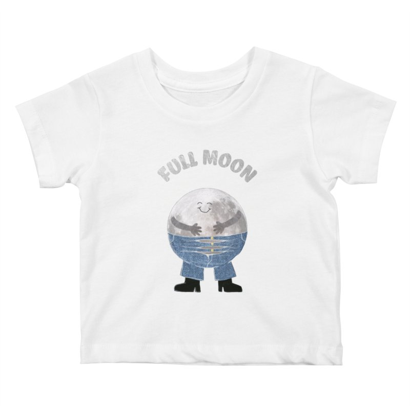 FULL MOON Kids Baby T-Shirt by pick&roll