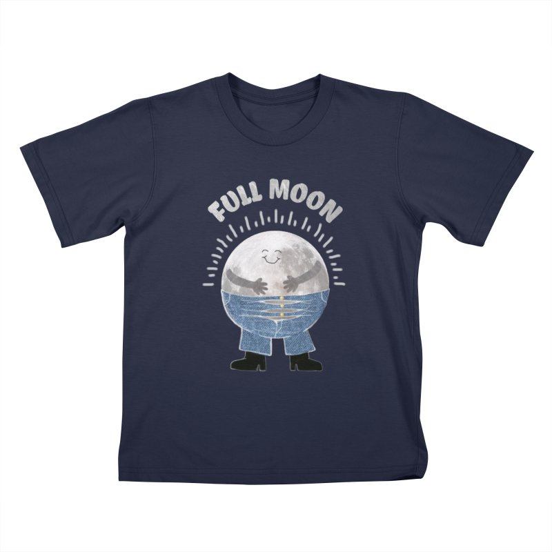 FULL MOON Kids T-shirt by pick&roll