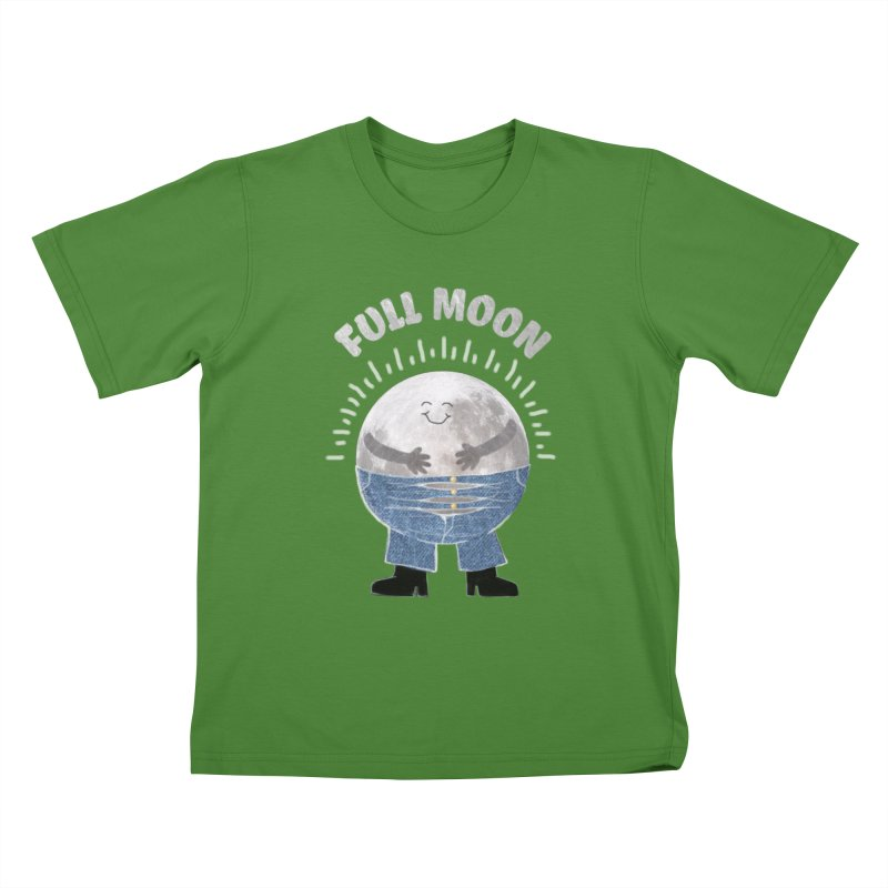 FULL MOON Kids T-shirt by pick&roll