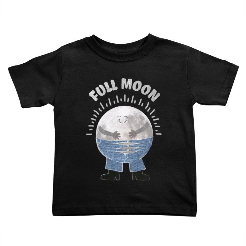 FULL MOON Kids Toddler T-Shirt by pick&roll