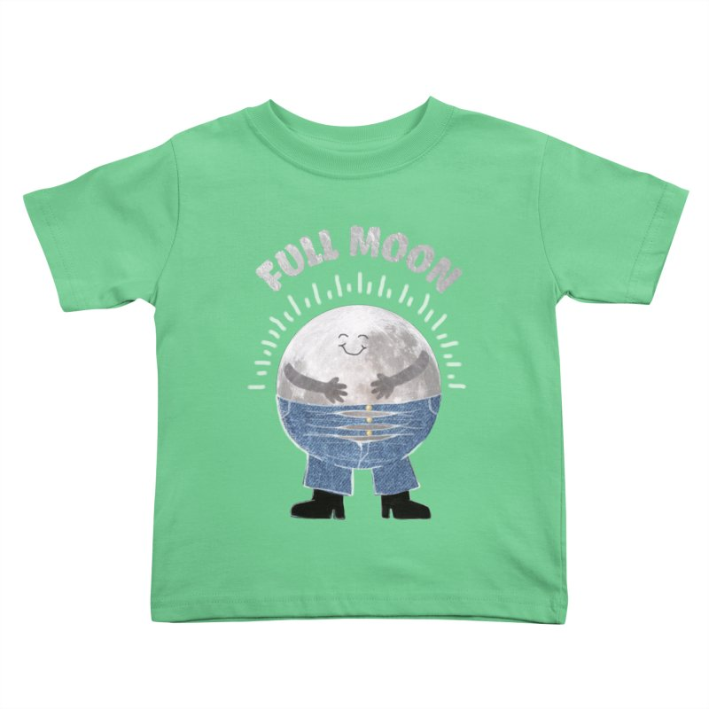 FULL MOON Kids Toddler T-Shirt by pick&roll