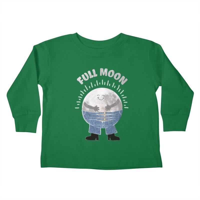 FULL MOON Kids Toddler Longsleeve T-Shirt by pick&roll