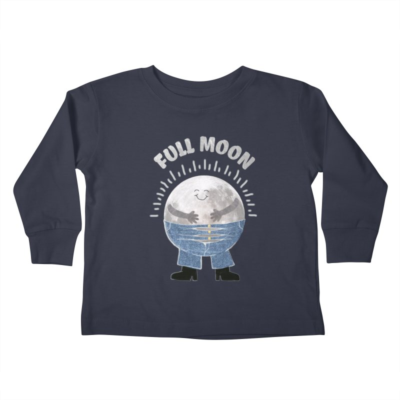 FULL MOON Kids Toddler Longsleeve T-Shirt by pick&roll