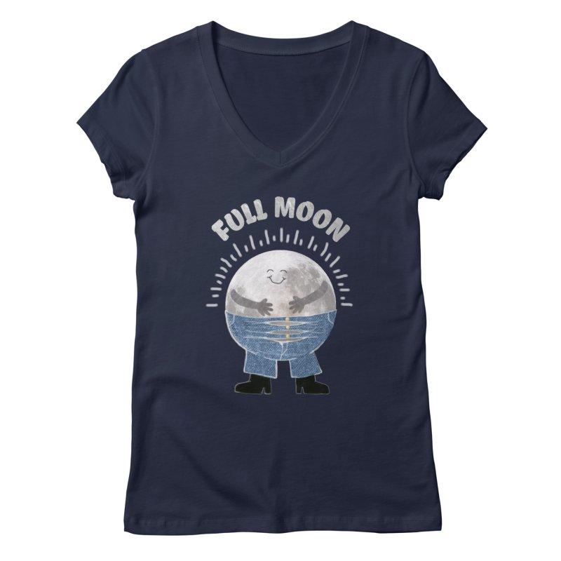 FULL MOON Women's V-Neck by pick&roll