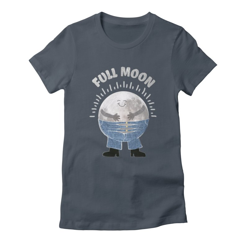 FULL MOON Women's Fitted T-Shirt by pick&roll