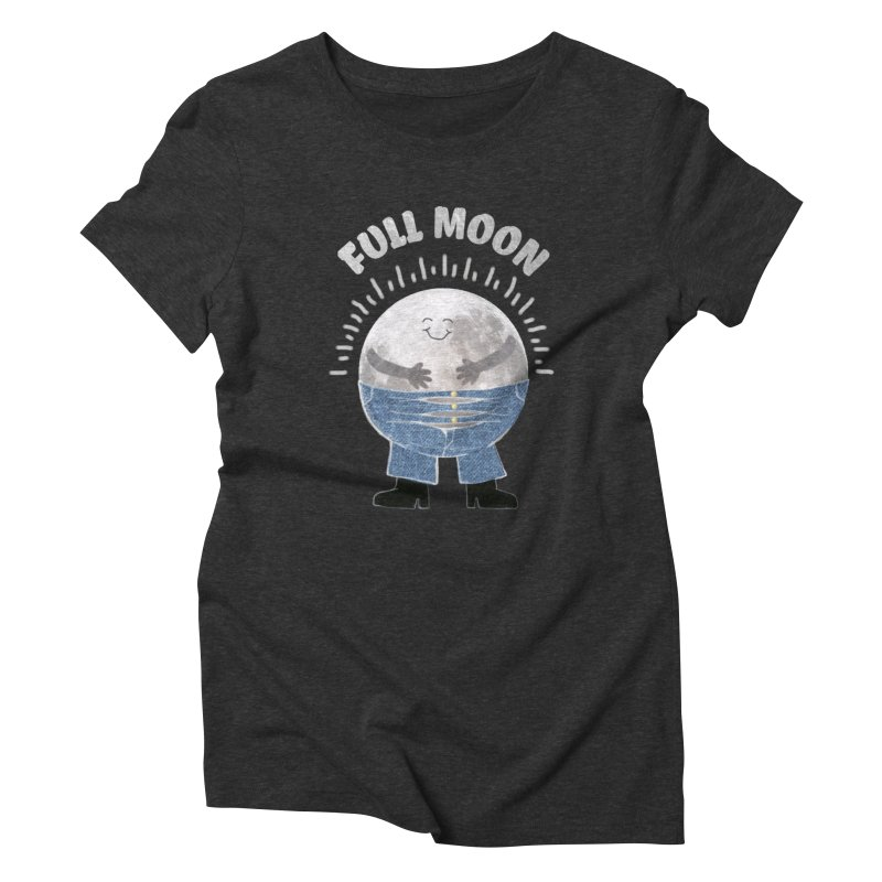FULL MOON Women's Triblend T-shirt by pick&roll