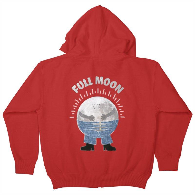 FULL MOON Kids Zip-Up Hoody by pick&roll