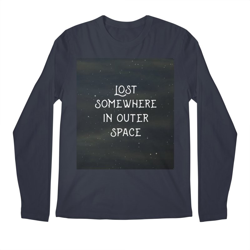 LOST SOMEWHERE IN OUTER SPACE Men's Longsleeve T-Shirt by pick&roll