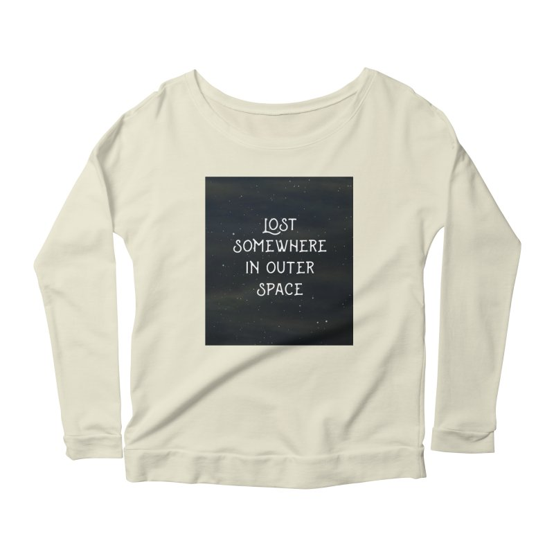LOST SOMEWHERE IN OUTER SPACE Women's Longsleeve Scoopneck  by pick&roll