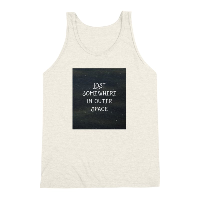 LOST SOMEWHERE IN OUTER SPACE Men's Triblend Tank by pick&roll