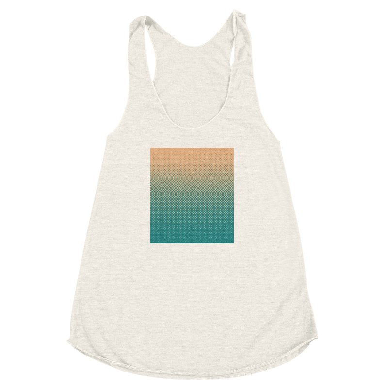 DOTTED ILLUSION Women's Racerback Triblend Tank by pick&roll