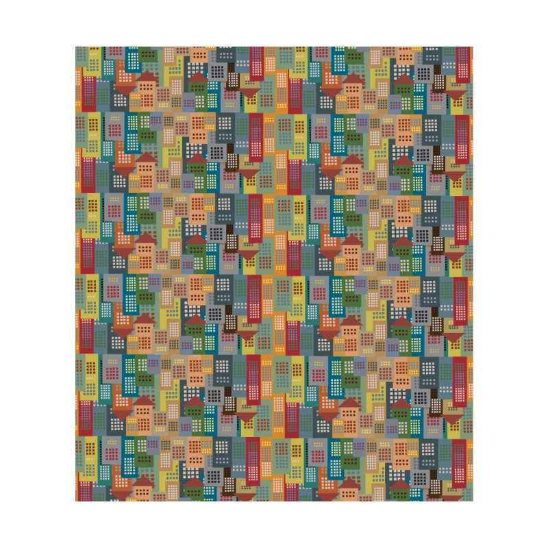 COLORFUL BUILDINGS Home Shower Curtain by pick&roll