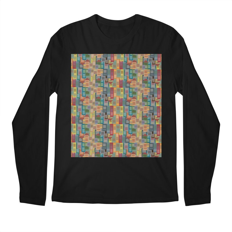 COLORFUL BUILDINGS Men's Longsleeve T-Shirt by pick&roll