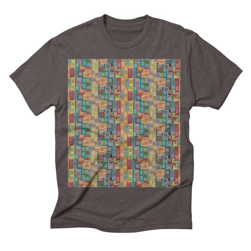 COLORFUL BUILDINGS Men's Triblend T-shirt by pick&roll