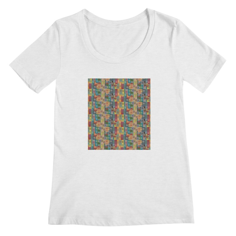 COLORFUL BUILDINGS Women's Scoopneck by pick&roll