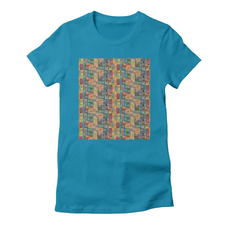 COLORFUL BUILDINGS Women's Fitted T-Shirt by pick&roll