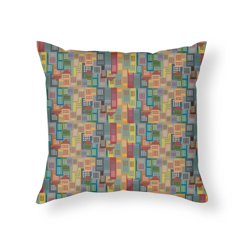 COLORFUL BUILDINGS Home Throw Pillow by pick&roll