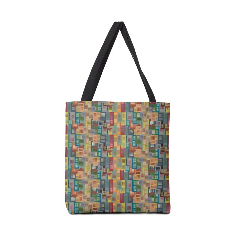 COLORFUL BUILDINGS Accessories Bag by pick&roll