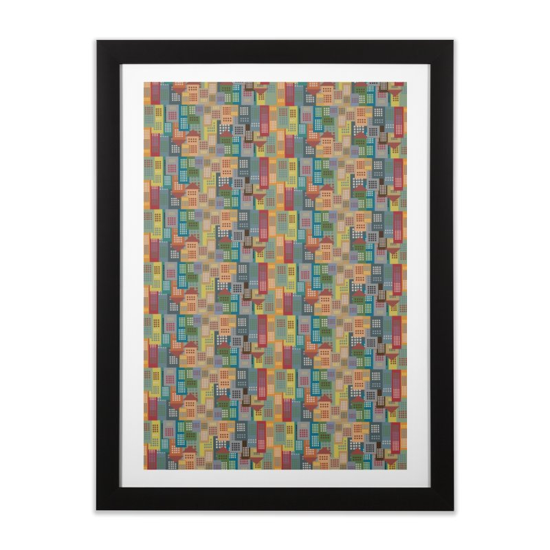 COLORFUL BUILDINGS Home Framed Fine Art Print by pick&roll