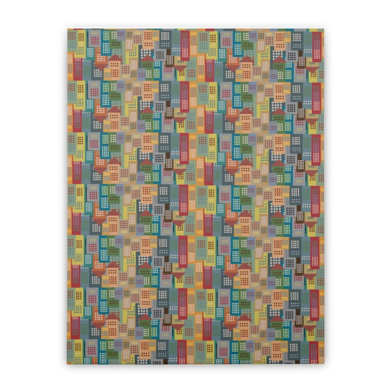 COLORFUL BUILDINGS Home Stretched Canvas by pick&roll