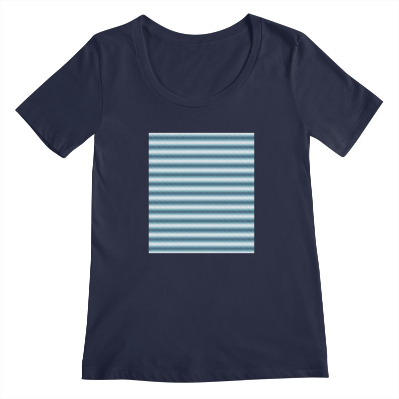 WAVING STRIPES Women's Scoopneck by pick&roll