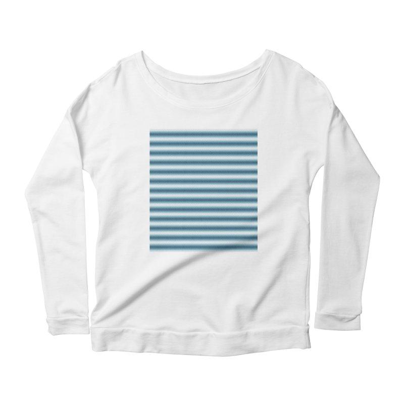 WAVING STRIPES Women's Longsleeve Scoopneck  by pick&roll
