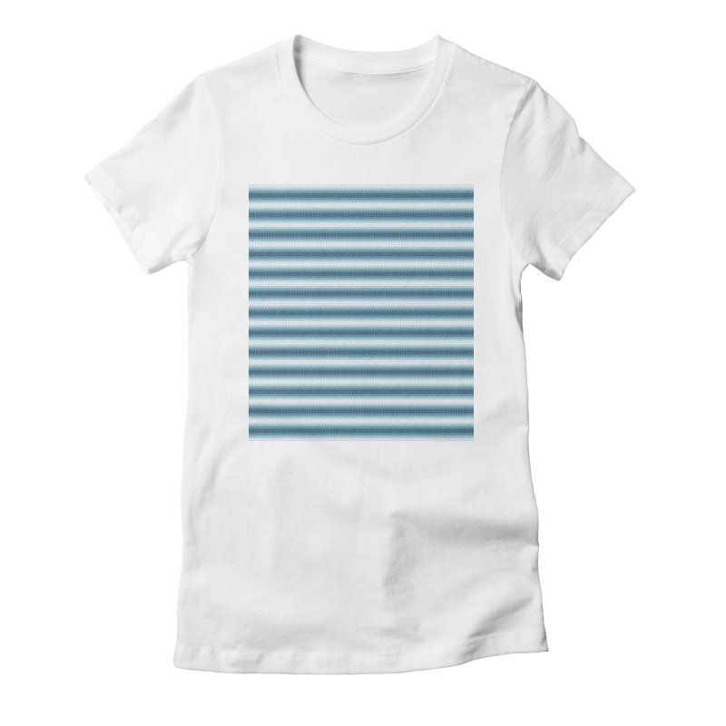 WAVING STRIPES Women's Fitted T-Shirt by pick&roll