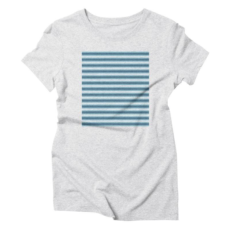 WAVING STRIPES Women's Triblend T-Shirt by pick&roll