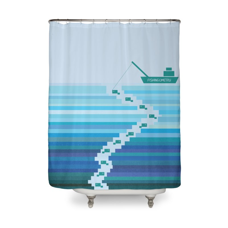 FISHINGOMETRY Home Shower Curtain by pick&roll