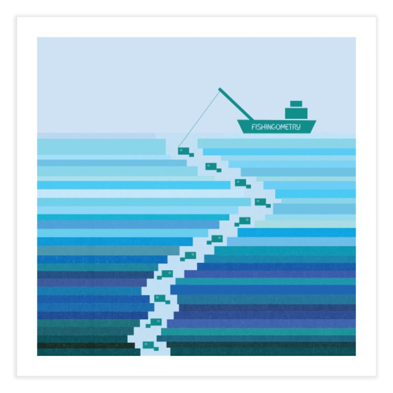 FISHINGOMETRY Home Fine Art Print by pick&roll