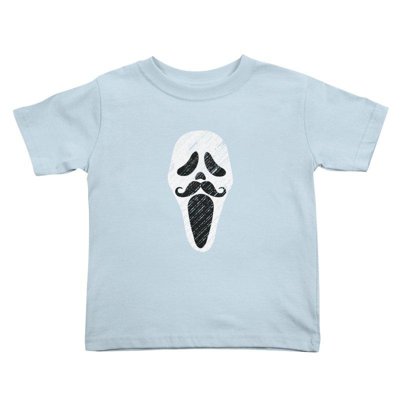 MUSTACHE SCREAM Kids Toddler T-Shirt by pick&roll