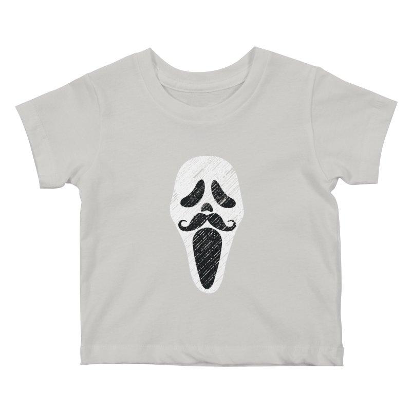 MUSTACHE SCREAM Kids Baby T-Shirt by pick&roll