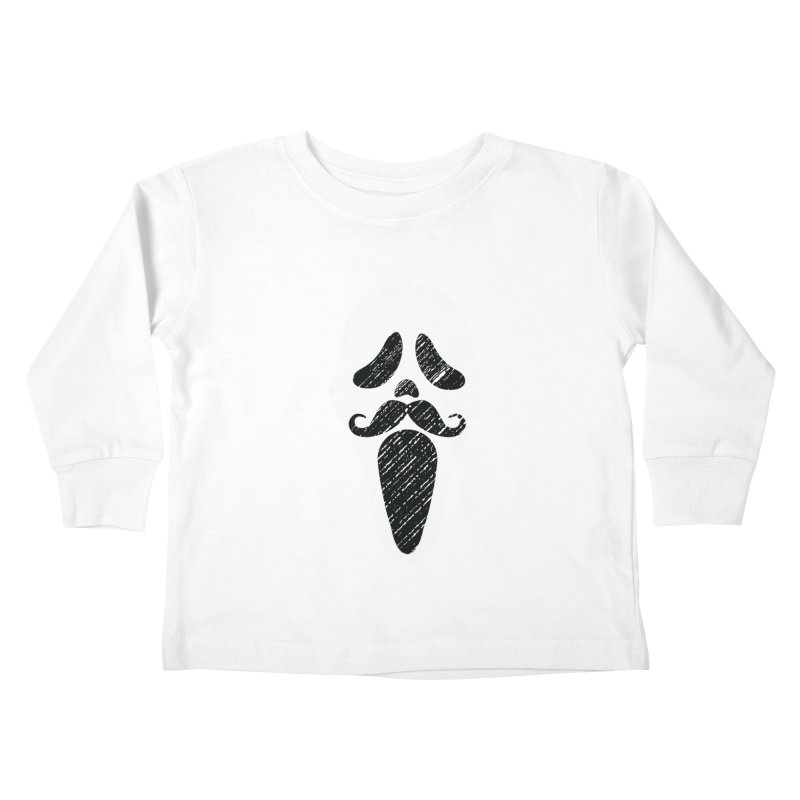 MUSTACHE SCREAM Kids Toddler Longsleeve T-Shirt by pick&roll