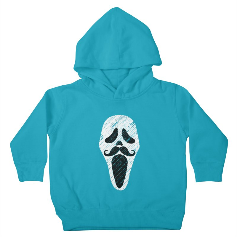 MUSTACHE SCREAM Kids Toddler Pullover Hoody by pick&roll