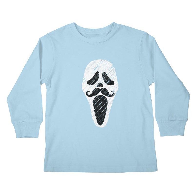 MUSTACHE SCREAM Kids Longsleeve T-Shirt by pick&roll
