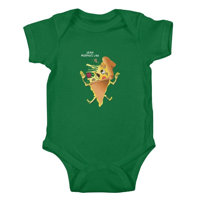STICKY PIZZA Kids Baby Bodysuit by pick&roll