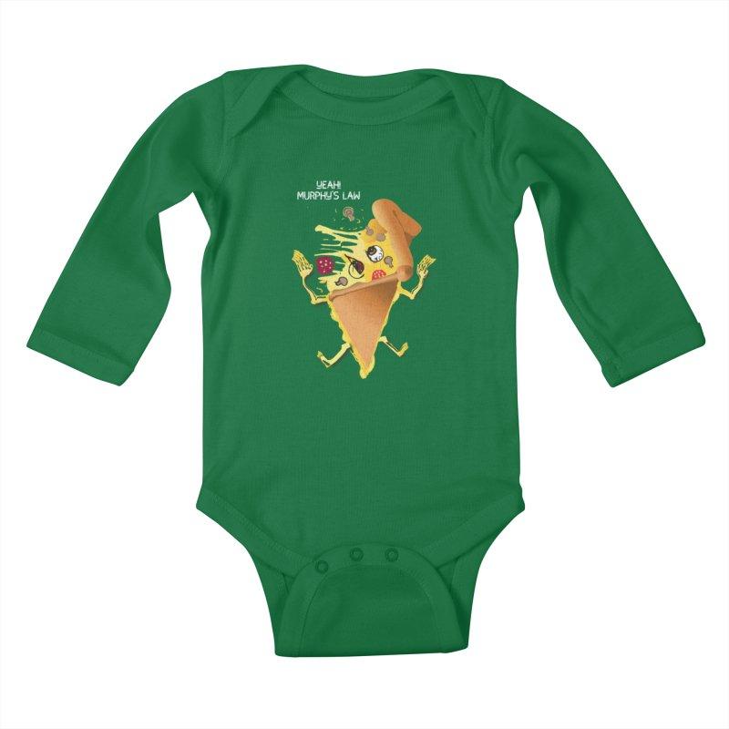 STICKY PIZZA Kids Baby Longsleeve Bodysuit by pick&roll