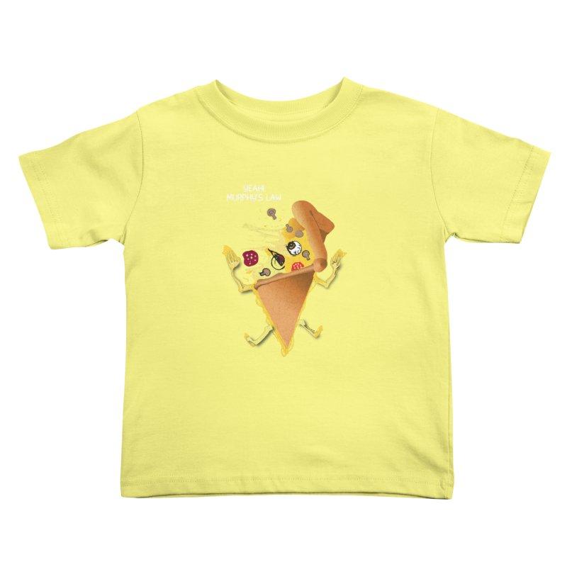 STICKY PIZZA Kids Toddler T-Shirt by pick&roll