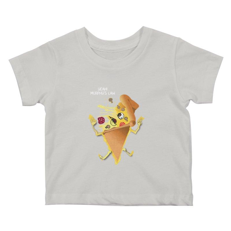STICKY PIZZA Kids Baby T-Shirt by pick&roll