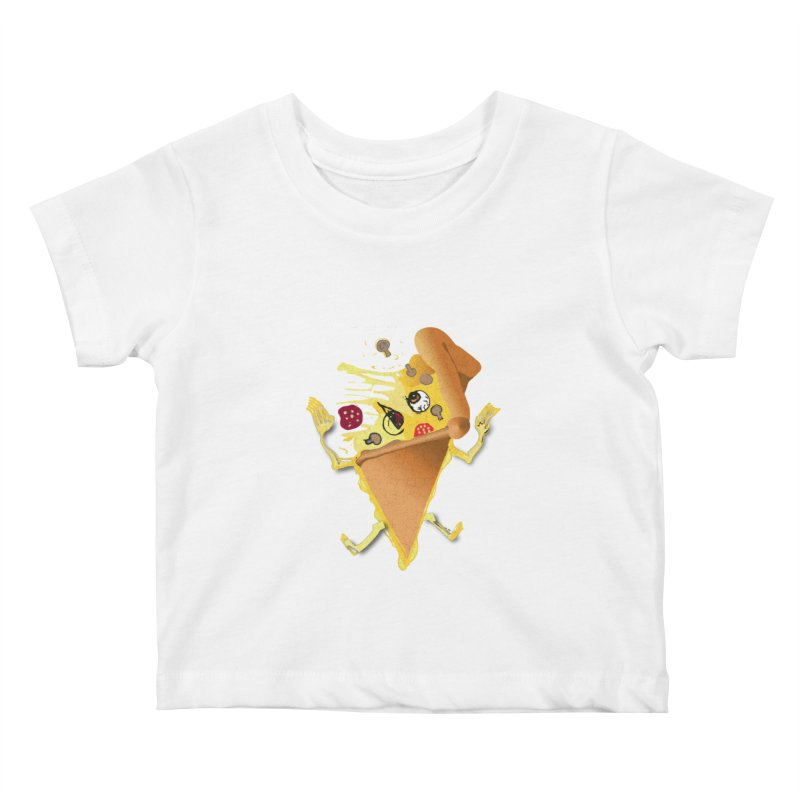 STICKY PIZZA Kids Baby T-Shirt by pick&roll