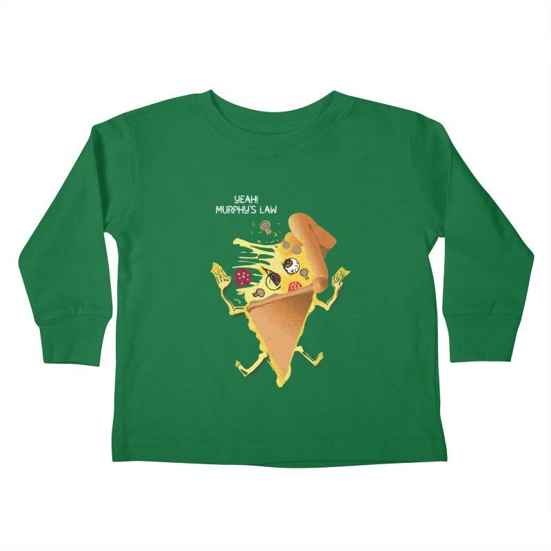 STICKY PIZZA Kids Toddler Longsleeve T-Shirt by pick&roll
