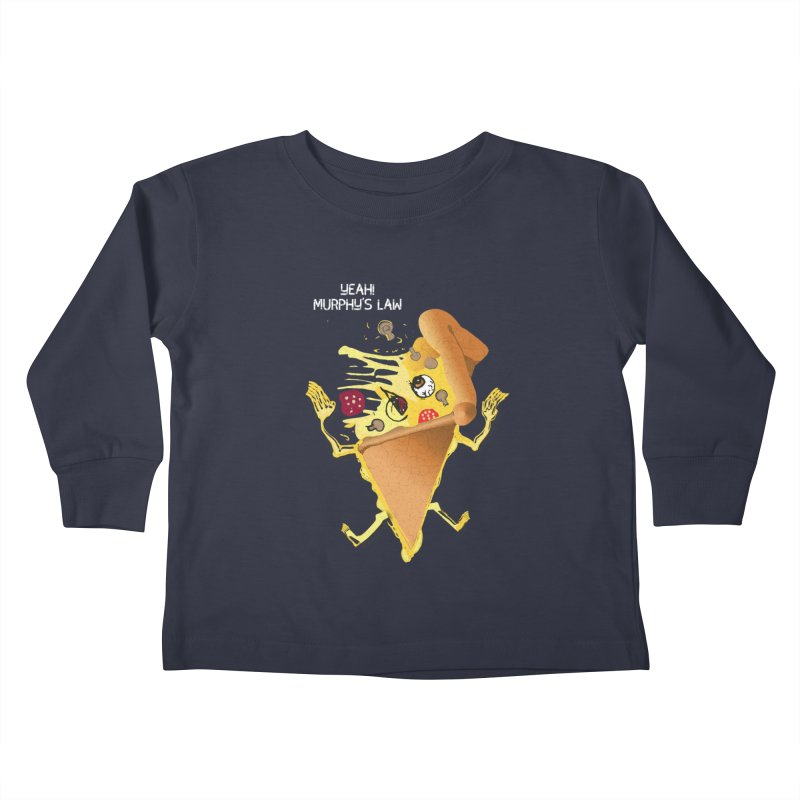 STICKY PIZZA Kids Toddler Longsleeve T-Shirt by pick&roll
