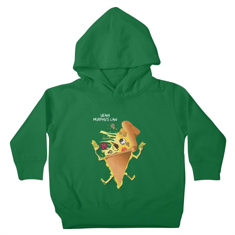 STICKY PIZZA Kids Toddler Pullover Hoody by pick&roll