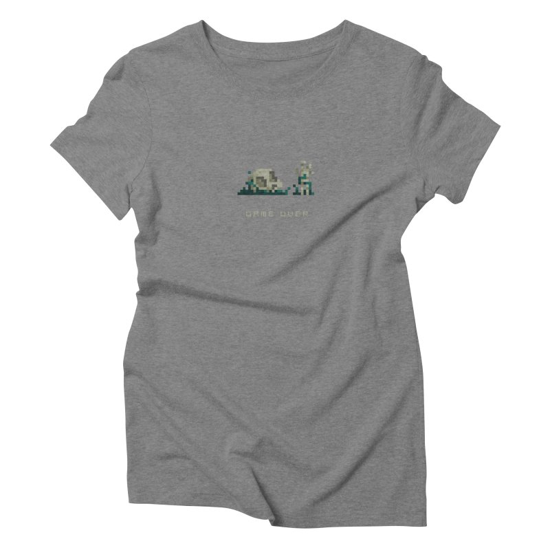 Game Over Women's Triblend T-Shirt by PICKY PEDESTRIAN
