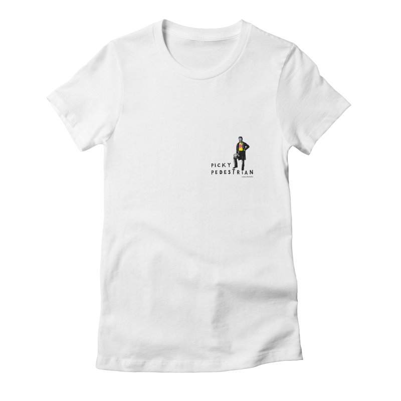 Picky Pedestrian Signature Old Sports T-shirt Women's Fitted T-Shirt by PICKY PEDESTRIAN