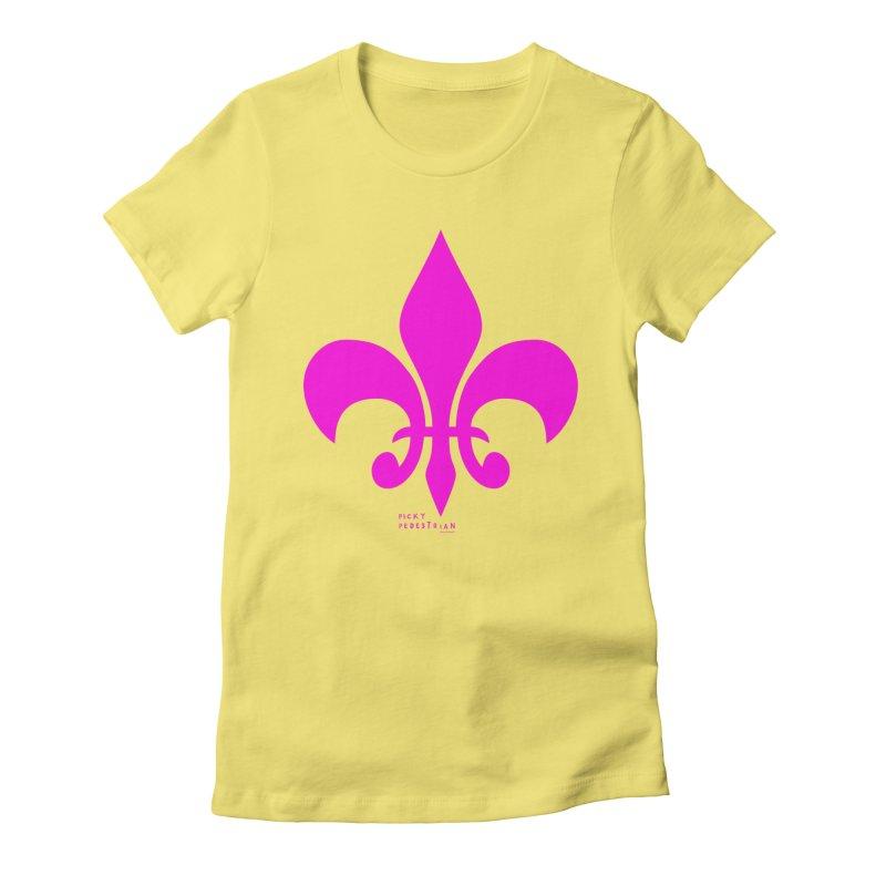 Picky Pedestrian Logo T-shirt Women's Fitted T-Shirt by PICKY PEDESTRIAN