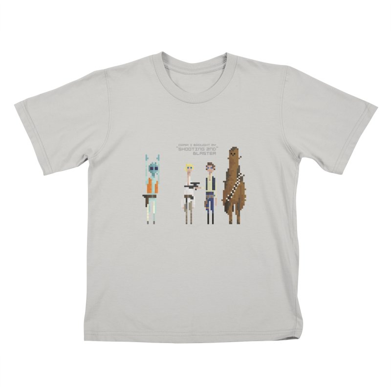Shooting 2nd Blaster Kids T-Shirt by PICKY PEDESTRIAN