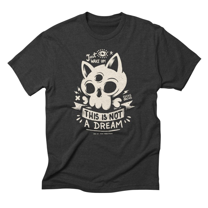 Wake Up! Men's Triblend T-Shirt by PICKY PEDESTRIAN