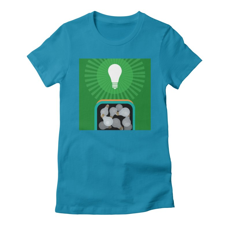 musing. Women's Fitted T-Shirt by pictrola graphics