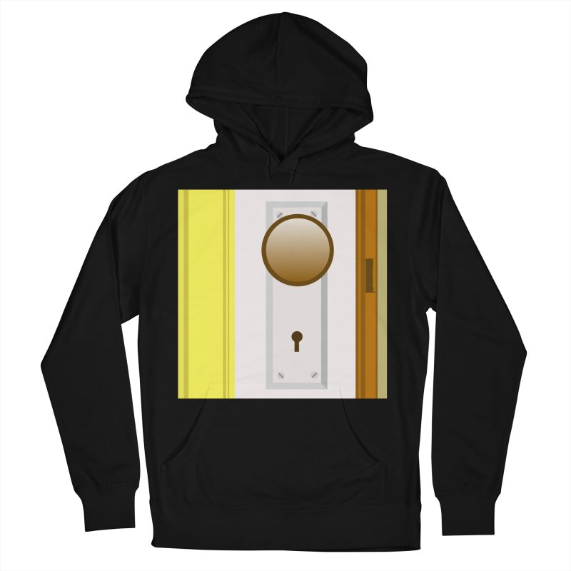 knock, knock. Women's French Terry Pullover Hoody by pictrola graphics